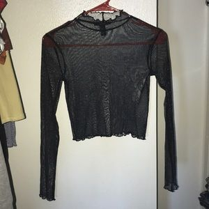 Mesh long sleeve crop top. FOREVER 21. WORN ONCE.